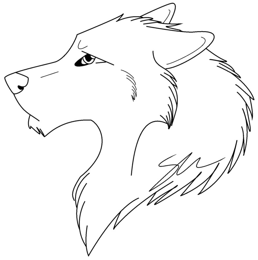 wolves coloring pages - photo#4