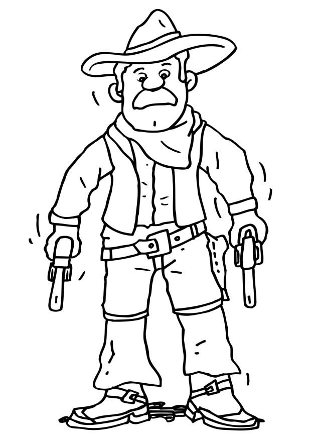 Free Printable Cowboy Coloring Pages For Kids Cowboy Color Pages