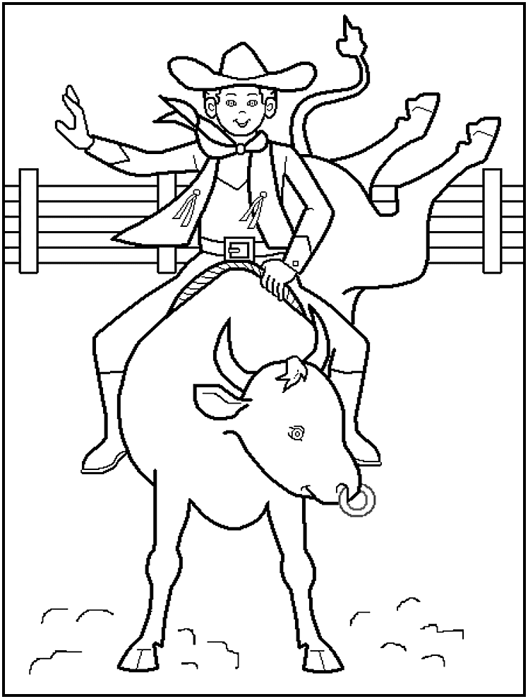 cowboy coloring book pages free-#11