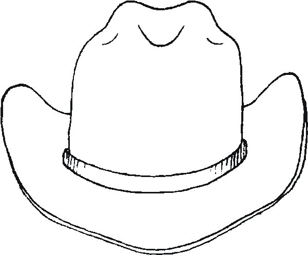Shocking image inside cowboy hat printable