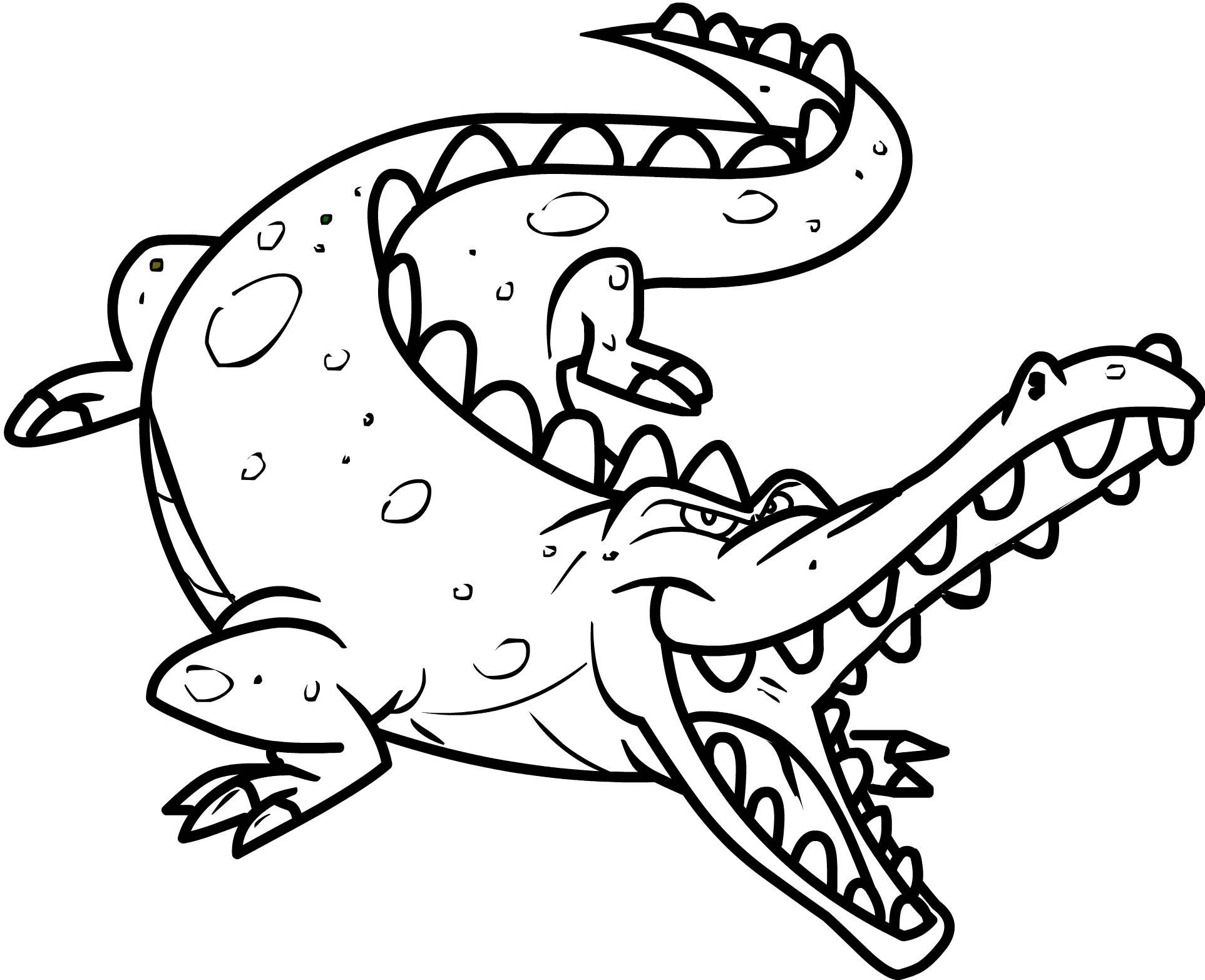 printable coloring pages crocodile - photo #7