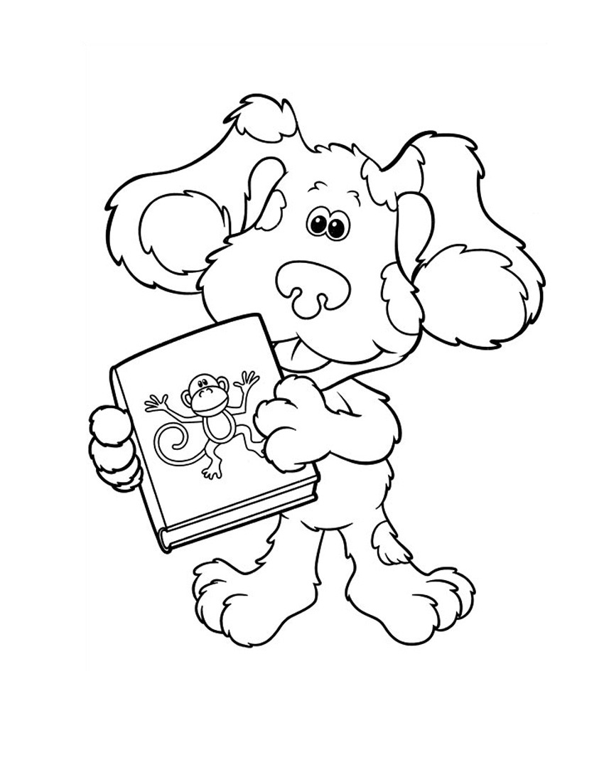 blues clues coloring pages online - photo#16