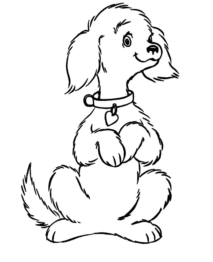 Free printable dog coloring pages for kids for Cute puppies coloring pages