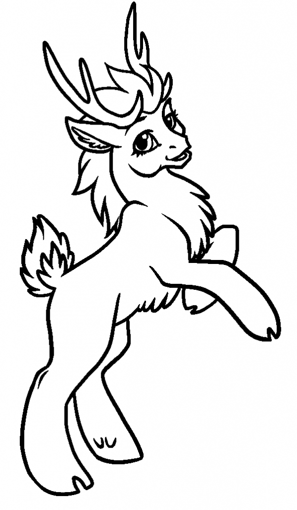 Cute Reindeer Coloring Pages