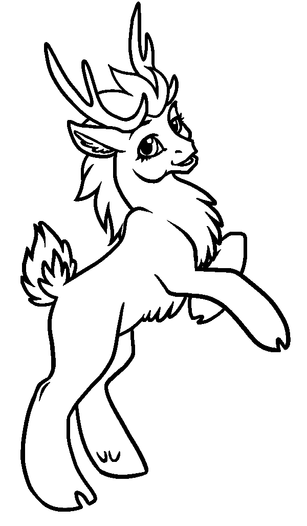 Free Printable Reindeer Coloring Pages For Kids Reindeer Coloring Page
