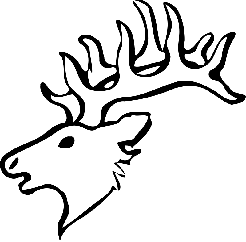 Deer Head Coloring Page