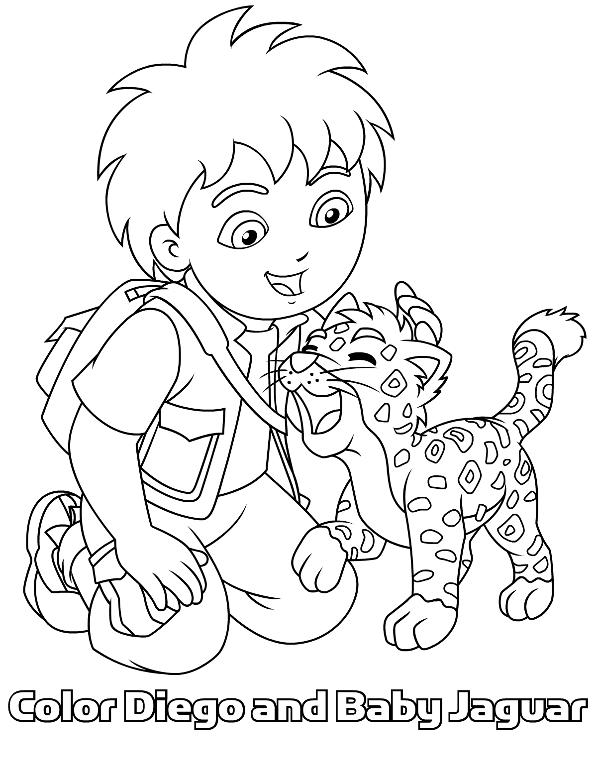 colouring pages van : Diego Coloring Pages Free