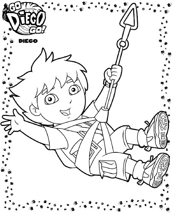 Free Printable Diego Coloring Pages For Kids Diego Coloring Pages