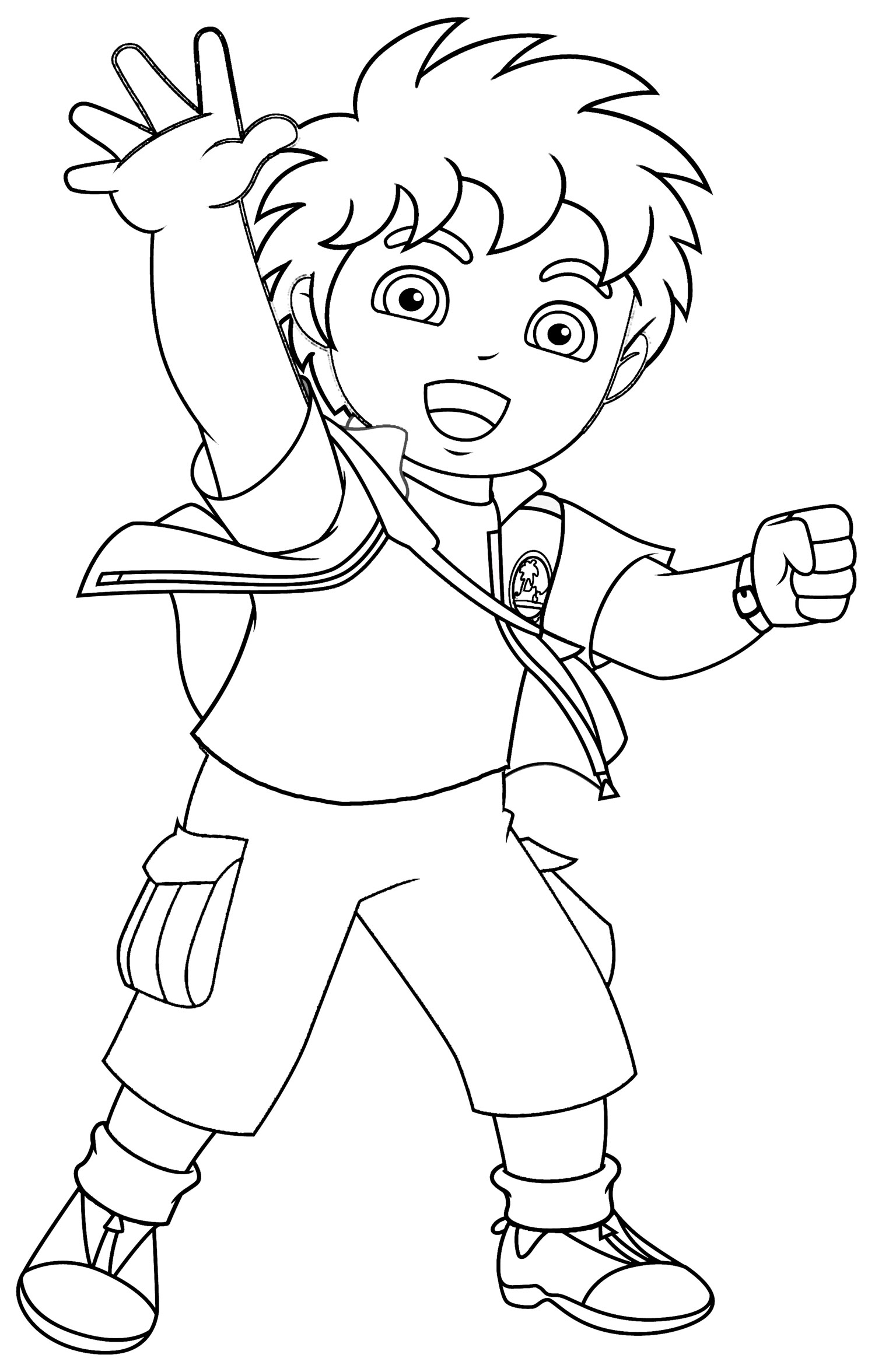 Free printable diego coloring pages for kids for Coloring pages