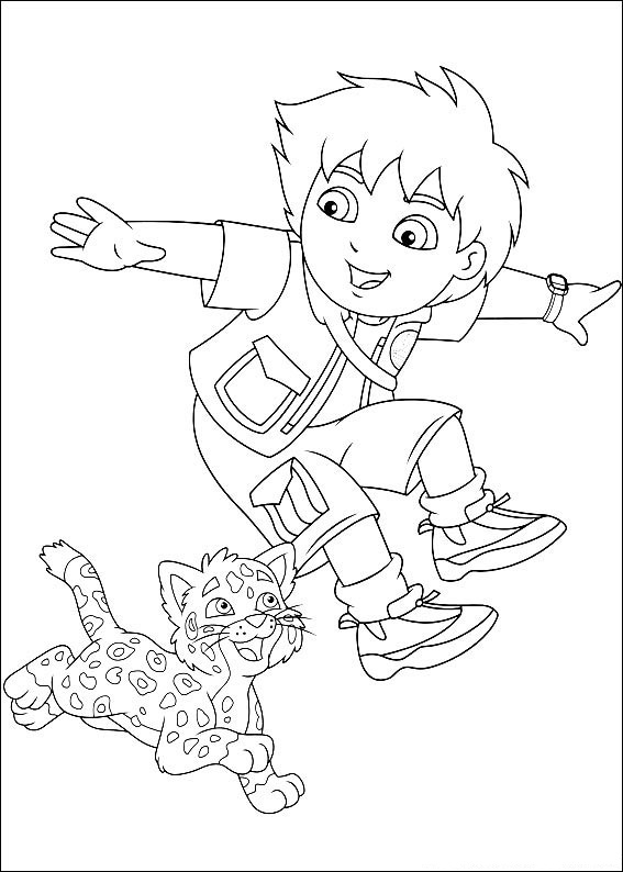 diego christmas coloring pages - photo#2