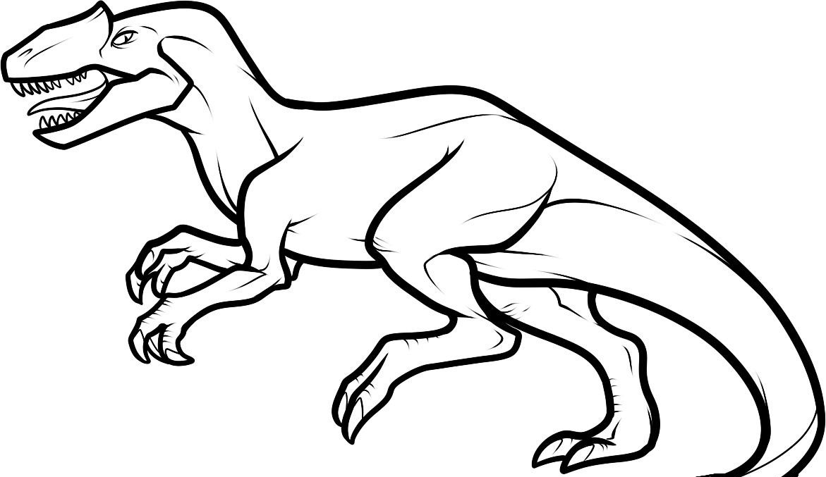 Printable coloring pages dinosaurs - Dinosaur Color Page
