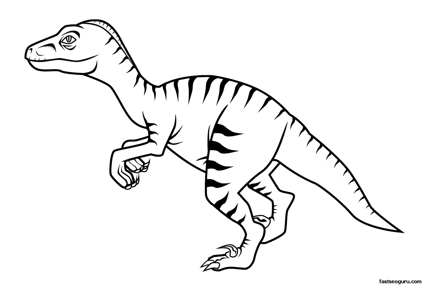 Dinosaur coloring pages to color online - Dinosaur Color Pages