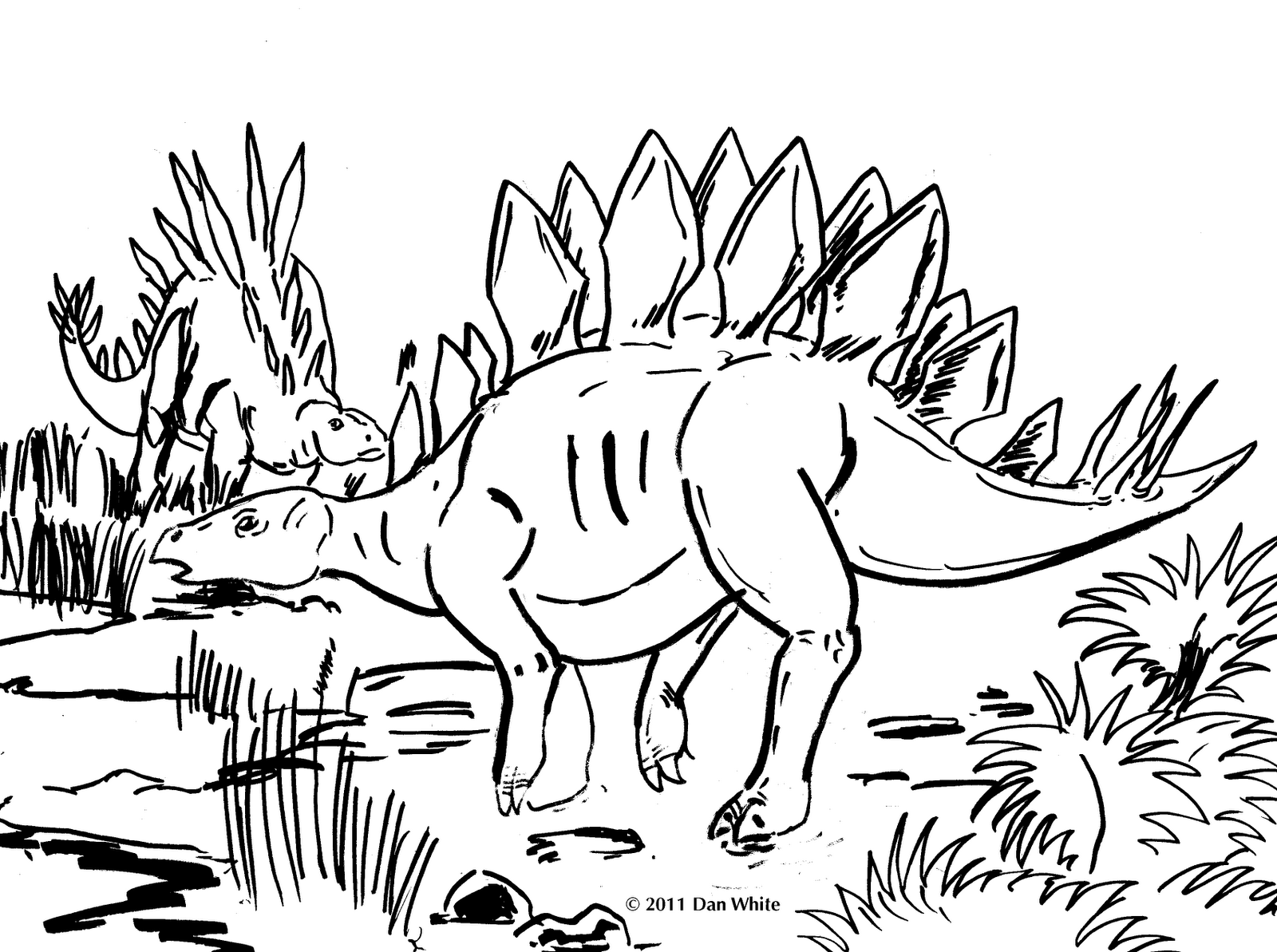 Printable coloring pages dinosaurs - Dinosaur Coloring Pages For Kids Printable