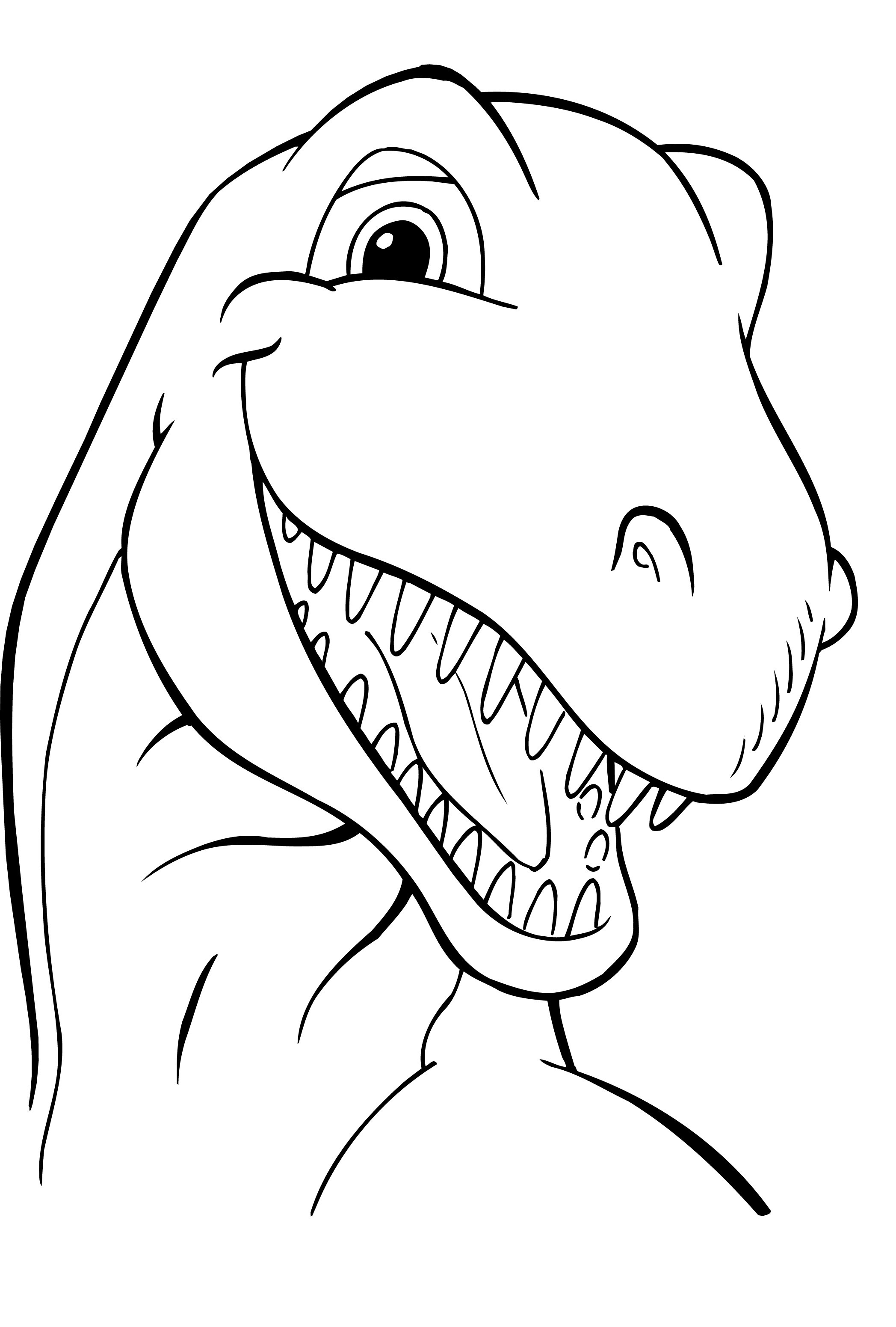 Free printable dinosaur coloring pages for kids for Free printable cartoon coloring pages