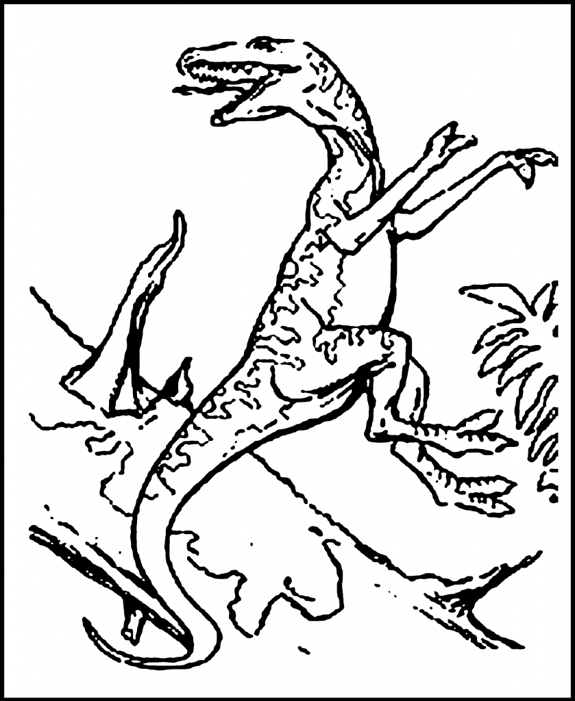 Free Coloring Pages Of Dinosaur Activity