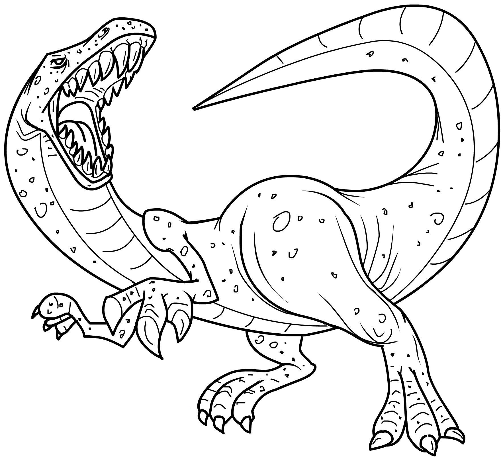 Free coloring in pages - Dinosaurs Coloring Pages Free Printables