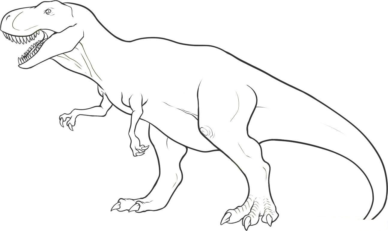 Free coloring pages of dinosaurs