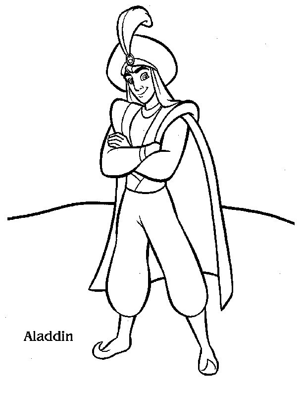 Printable Coloring Pages Aladdin Cast Coloring Pages