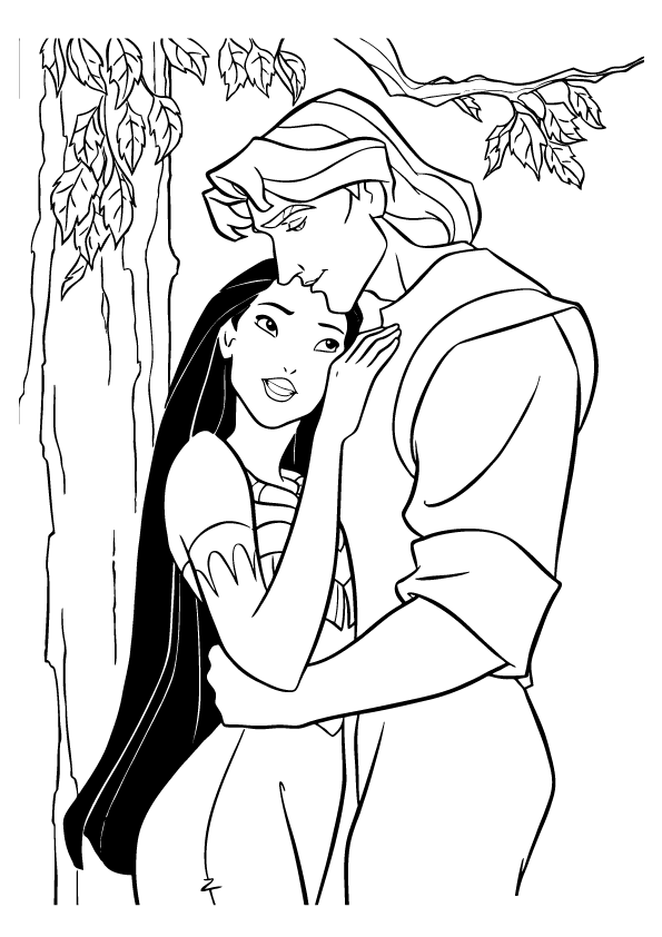 coloring pages pocahontas - photo#6