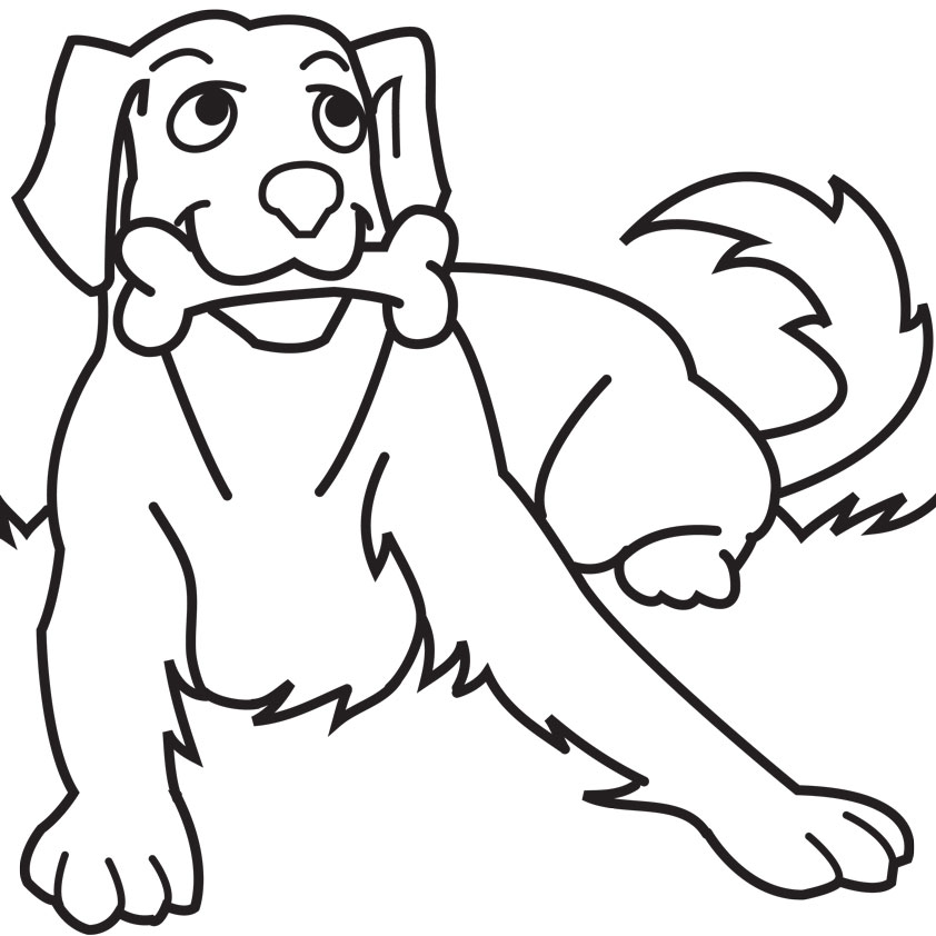 dog bone coloring pages - Dogs Coloring Pages