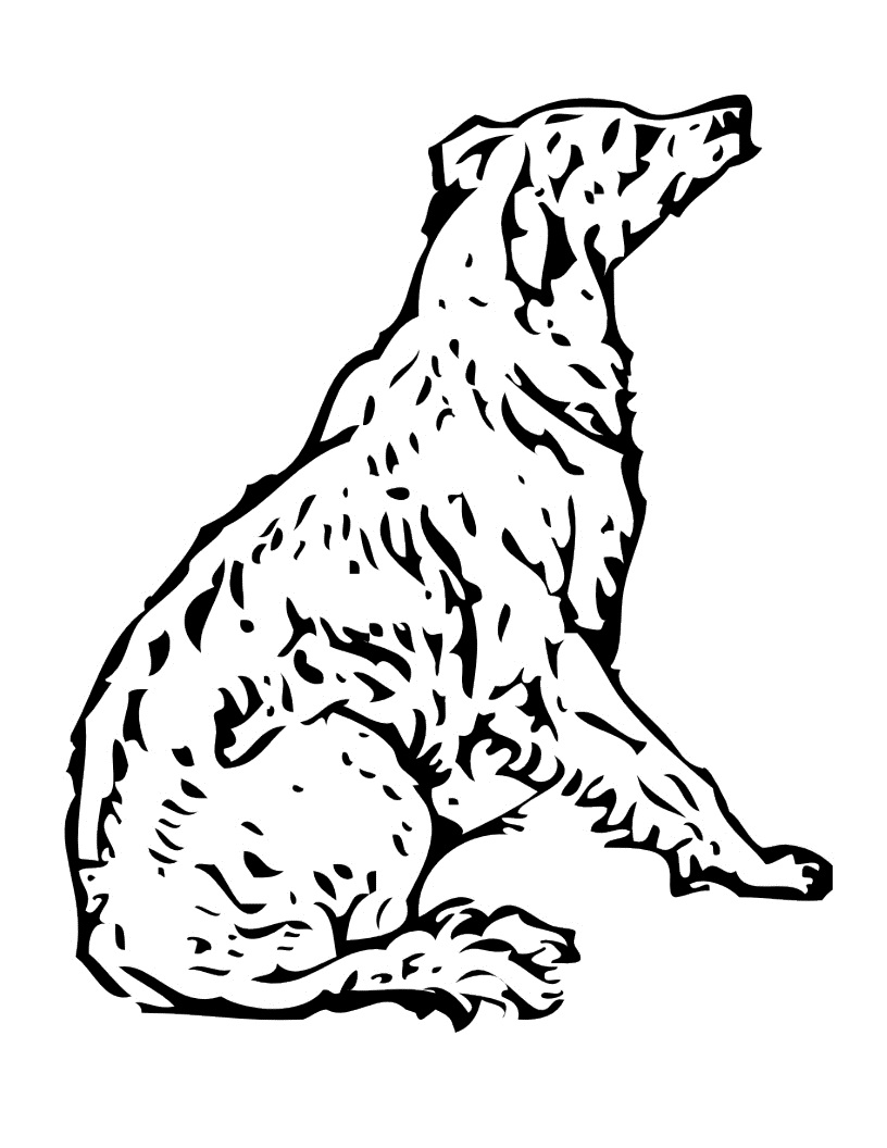 free coloring dog pages - photo#36