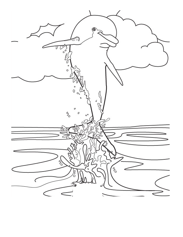 Coloring Pages Of Mermaids And Dolphins #3