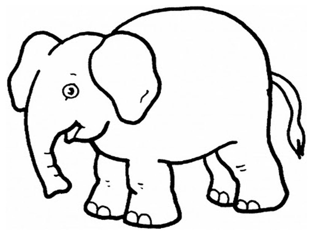 Elephant Color Page Free Printable Elephant Coloring Pages For Kids