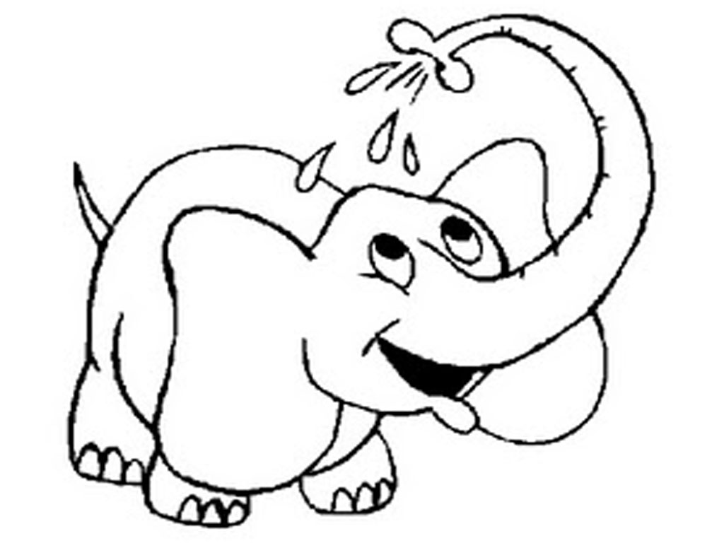 free coloring pages of elephant - photo#1