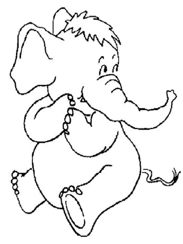 Coloring pages elephant - Elephant Coloring Pages For Kids