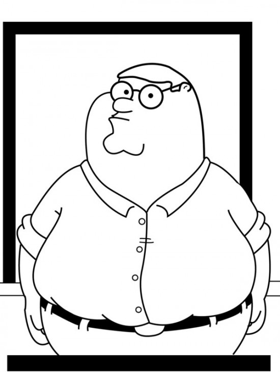 family guy coloring pages free - photo#19