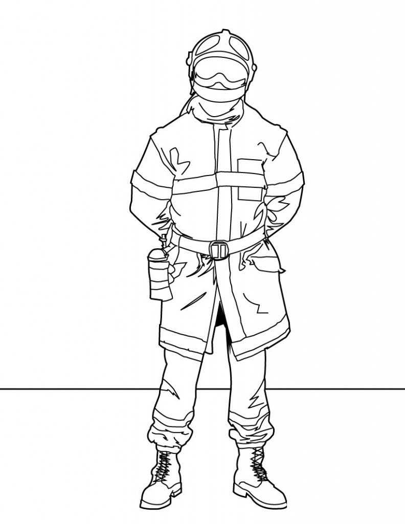 Firefighter Coloring Pages For Kids