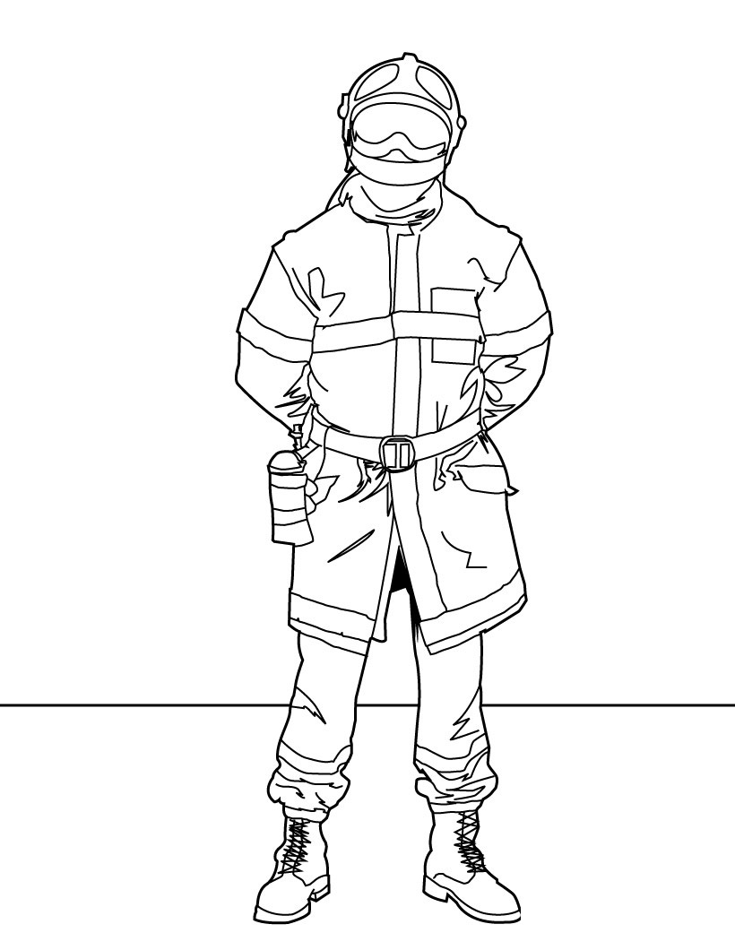 free printable firefighter coloring pages for kids Firefighter Coloring Pages for Preschool  Coloring Firefighter