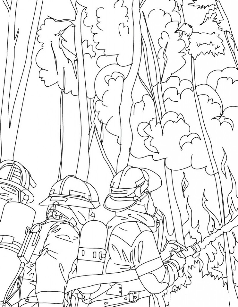 Firefighter Coloring Pages Kids