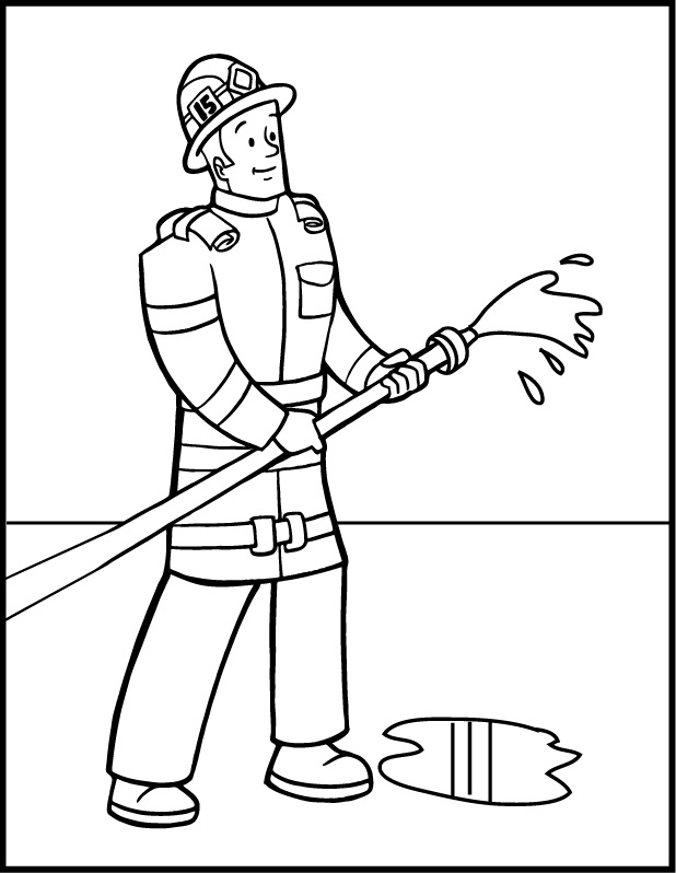 the gallery for  gt  firefighter outline Firefighter Coloring Pages for Preschool  Coloring Firefighter