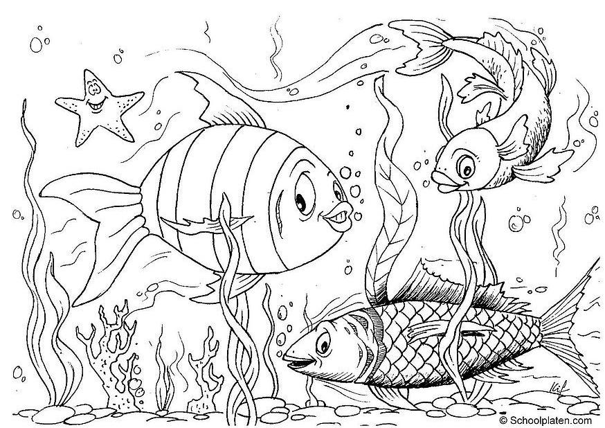 free printable goldfish coloring pages - photo#27