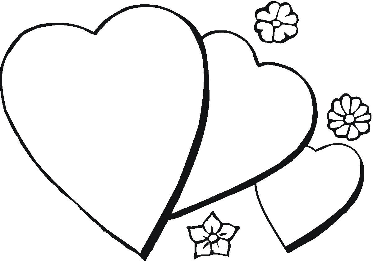 love hearts coloring pages - photo#39