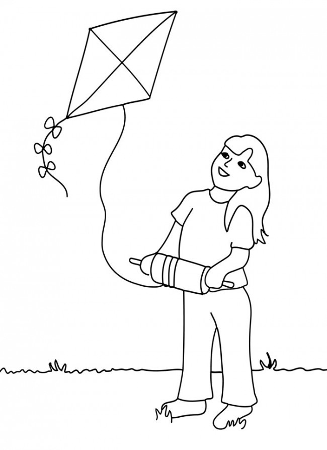 Flying Kite Coloring Pages
