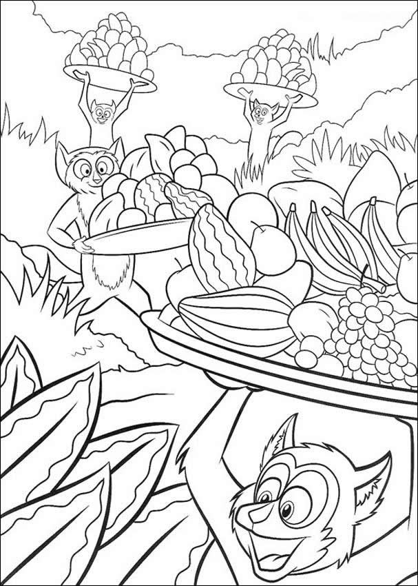 food pages coloring for kids | Free Printable Food Coloring Pages For Kids