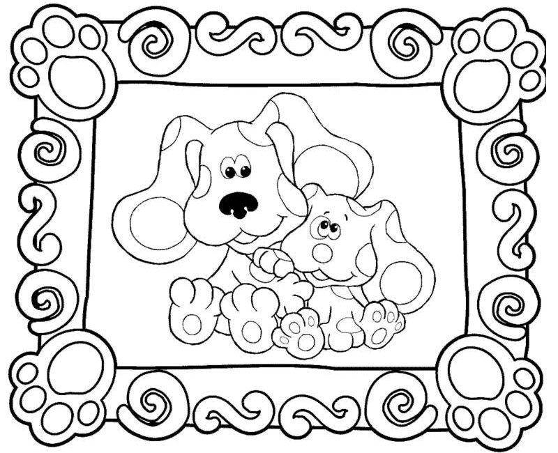 blues clues coloring pages online - photo#21