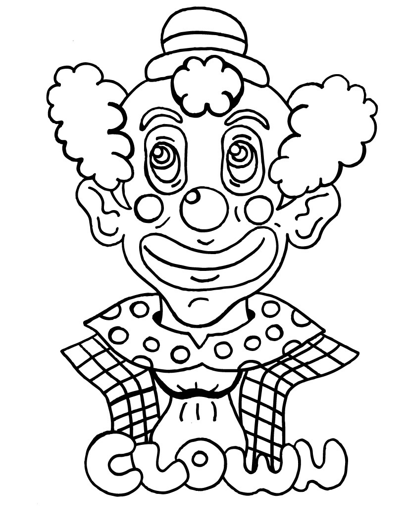 clown faces coloring pages - photo#26