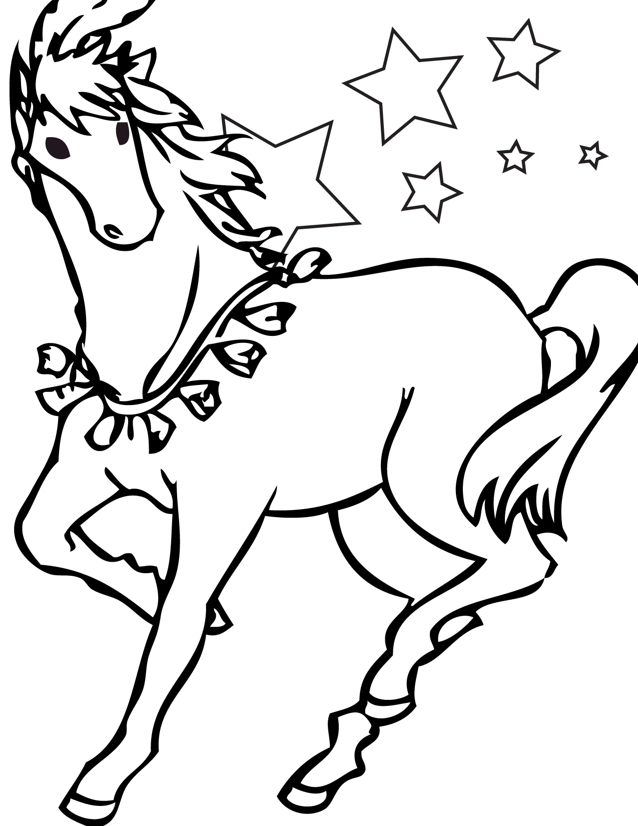 Free printable horse coloring pages for kids for Fun coloring pages for kids
