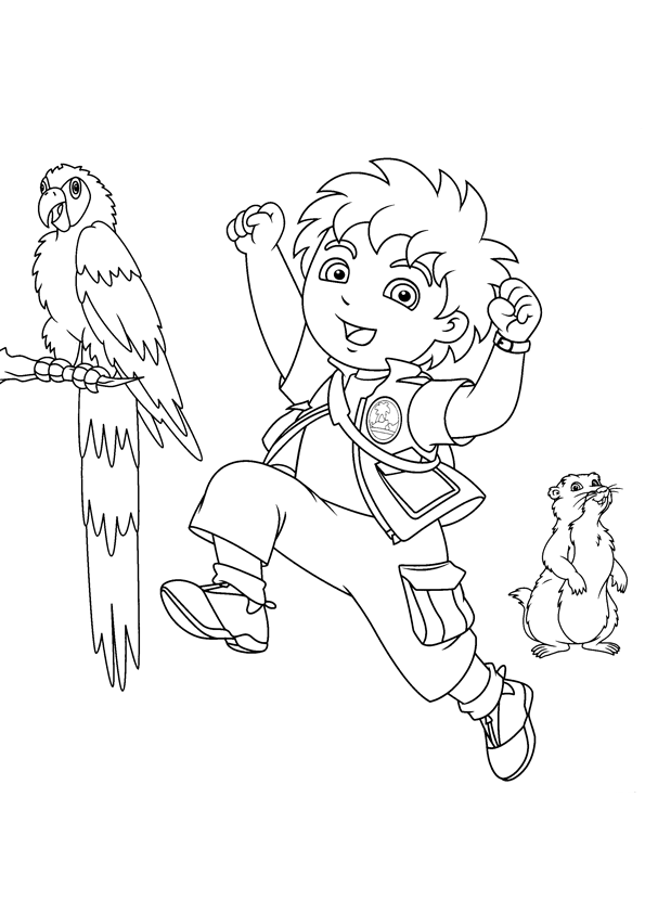 Printable Diego Coloring Pages For Kids