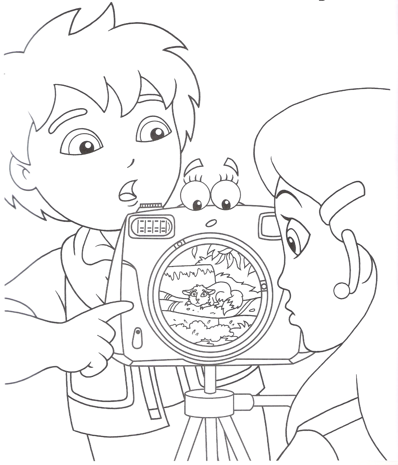 Painting pages to print - Free Diego Coloring Pages