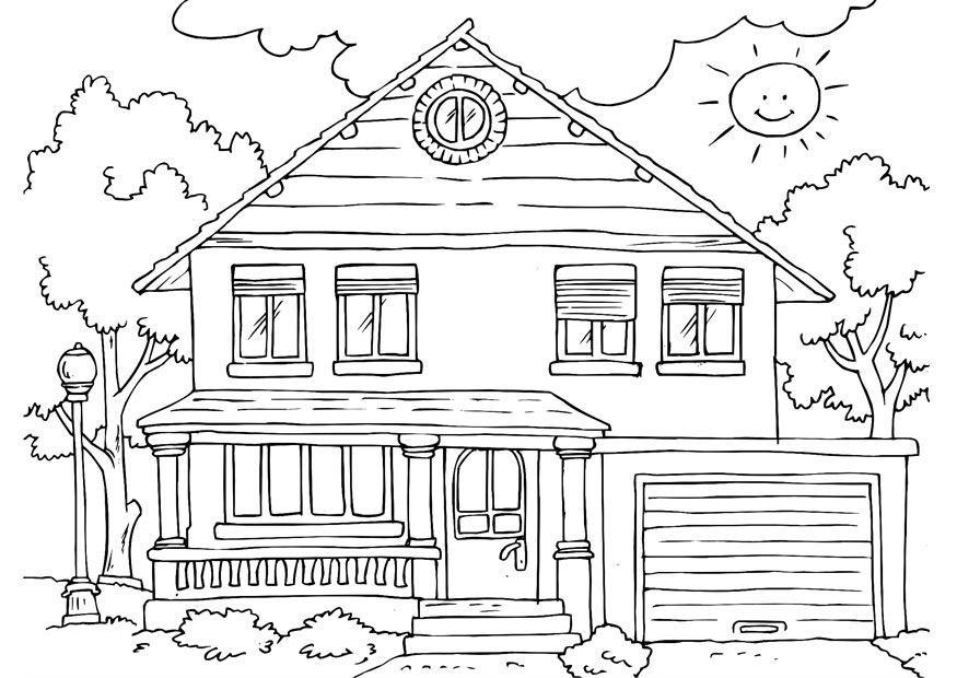 Free Printable House Coloring Pages For Kids - house coloring pages printable