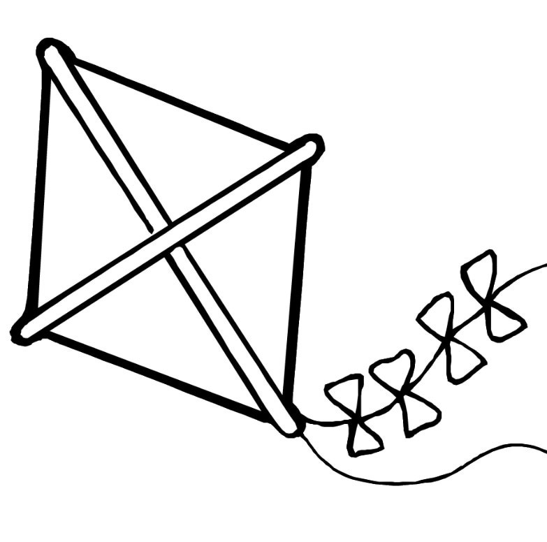 free kite coloring pages - Kite Coloring Page