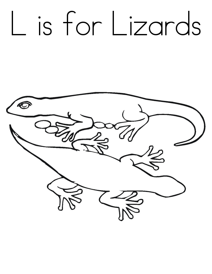 Free Lizard Coloring Pages