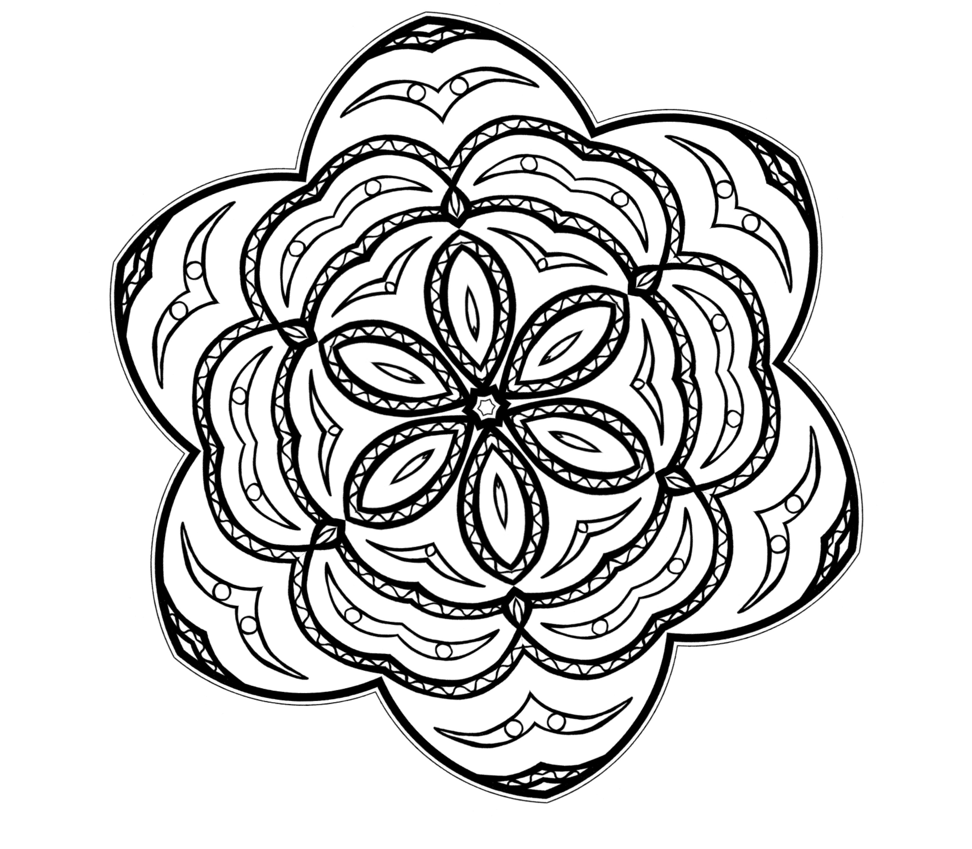 Coloring pages abstract - Free Printable Abstract Coloring Pages
