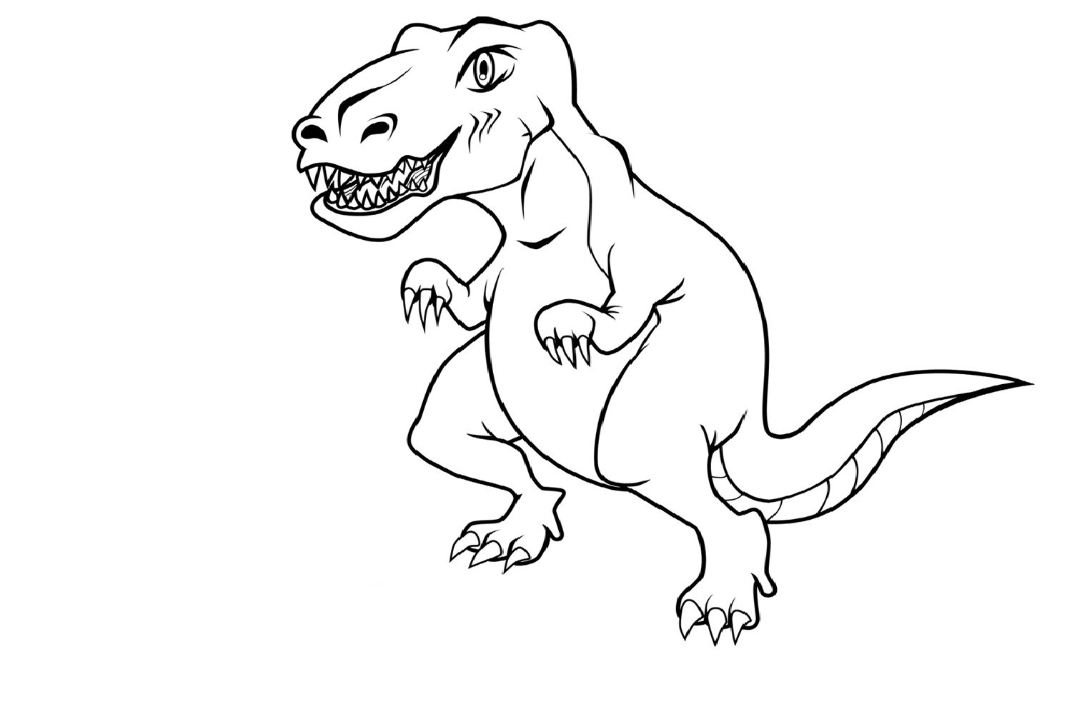 free printable dinosaur coloring pages - Childrens Free Colouring Pictures
