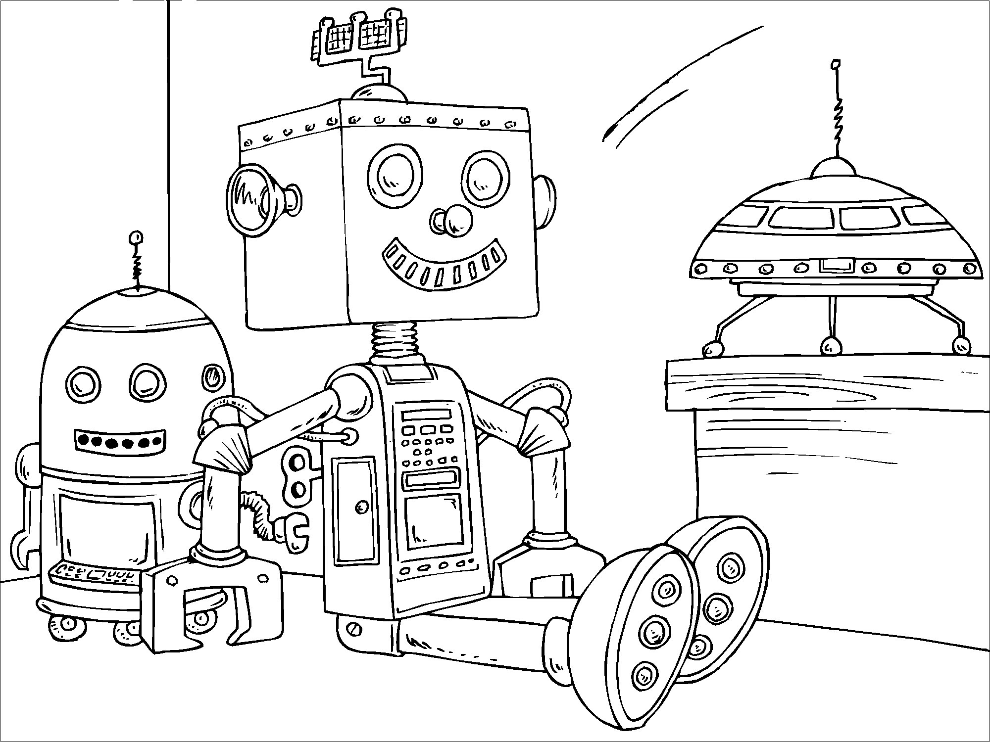 Coloring pictures robot - Free Printable Robot Coloring Pages