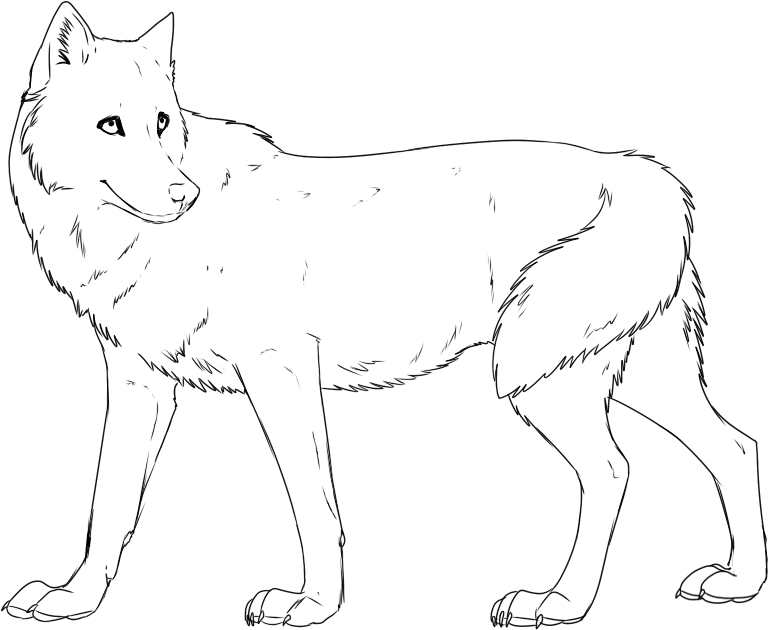 wolves coloring pages - photo#17